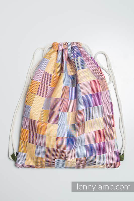 Sackpack made of wrap fabric (100% cotton) - QUARTET - standard size 32cmx43cm (grade B) #babywearing