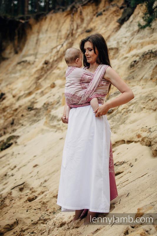 Baby Wrap, Jacquard Weave (100% cotton) - SANDY SHELLS, size S (grade B) #babywearing