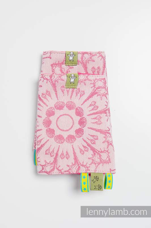 Drool Pads & Reach Straps Set, (60% cotton, 40% polyester) - SANDY SHELLS  #babywearing