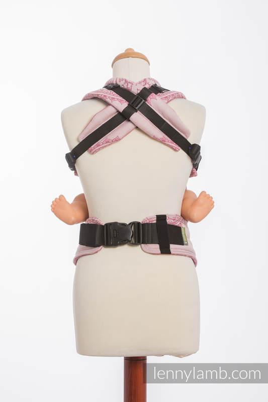 Ergonomic Carrier, Baby Size, jacquard weave 100% cotton - SANDY SHELLS - Second Generation #babywearing