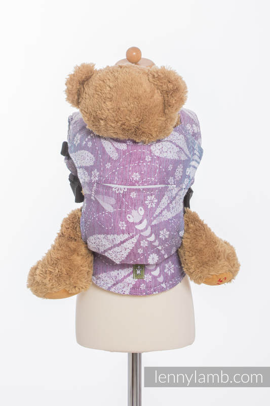 Doll Carrier made of woven fabric - DRAGONFLY LAVENDER #babywearing