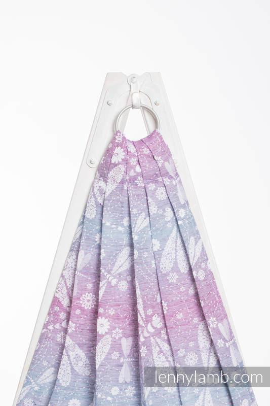 Ringsling, Jacquard Weave (60% cotton, 40% linen) - DRAGONFLY LAVENDER - long 2.1m #babywearing