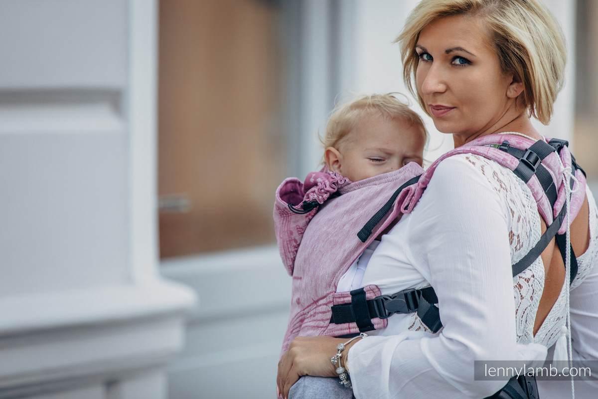 Nosidełko Ergonomiczne z tkaniny żakardowej 60% bawełna 40% len, Toddler Size, ZACZAROWANA SYMFONIA Druga Generacja #babywearing