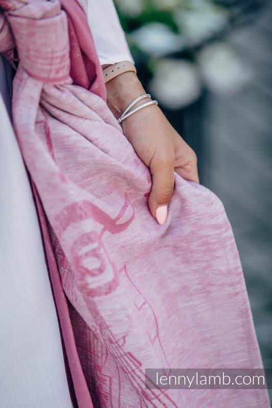 Baby Wrap, Jacquard Weave (60% cotton, 40% linen) - ENCHANTED SYMPHONY - size XS #babywearing