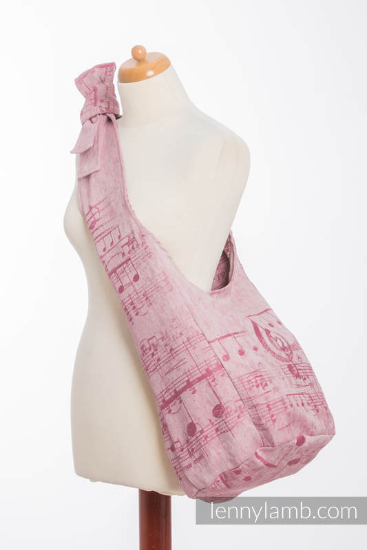 Hobo Bag made of woven fabric, 60% cotton, 40% linen- ENCHANTED SYMPHONY #babywearing