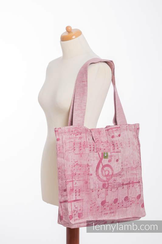 Shoulder bag made of wrap fabric (60% cotton, 40% linen) - ENCHANTED SYMPHONY - standard size 37cmx37cm #babywearing