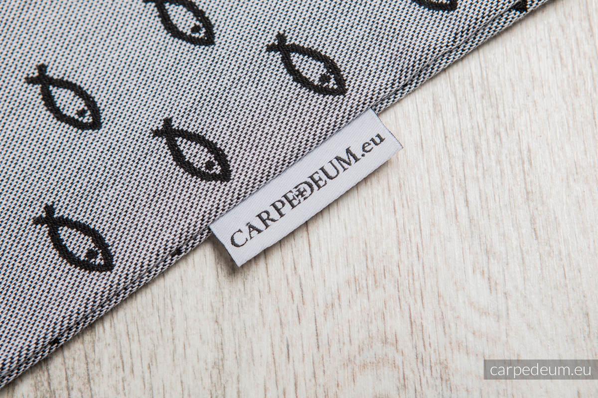 Plecak/worek z materiału żakardowego, (100% bawełna) - ICHTYS - SZARY - uniwersalny rozmiar 35cmx45cm #babywearing