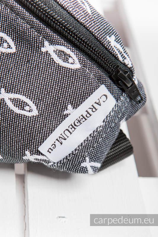 Saszetka z tkaniny żakardowej, (100% BAWEŁNA) - ICHTYS - GRAFITOWY #babywearing