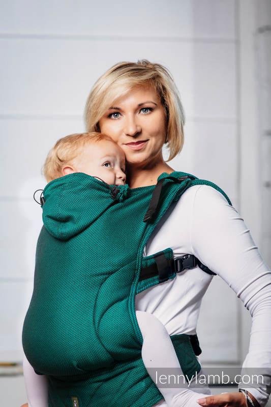 Porte-bébé ergonomique de la gamme de base - EMERALD, taille toddler, tissage herringbone 100 % - Deuxième génération #babywearing
