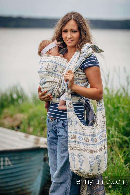 Torba Hobo z materiału chustowego, (100% bawełna) - BALTICA 2.0 #babywearing