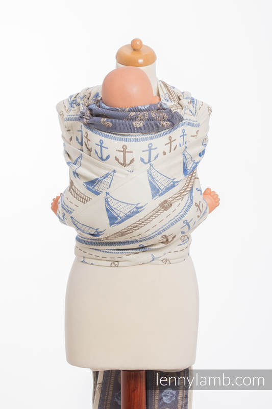 Nosidełko dla dzieci WRAP-TAI MINI, bawełna, splot żakardowy, z kapturkiem, BALTICA 2.0 (drugi gatunek) #babywearing