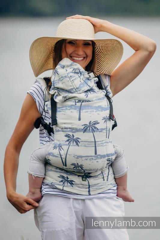 Ergonomic Carrier, Toddler Size, jacquard weave 100% cotton - PARADISE ISLAND - Second Generation #babywearing