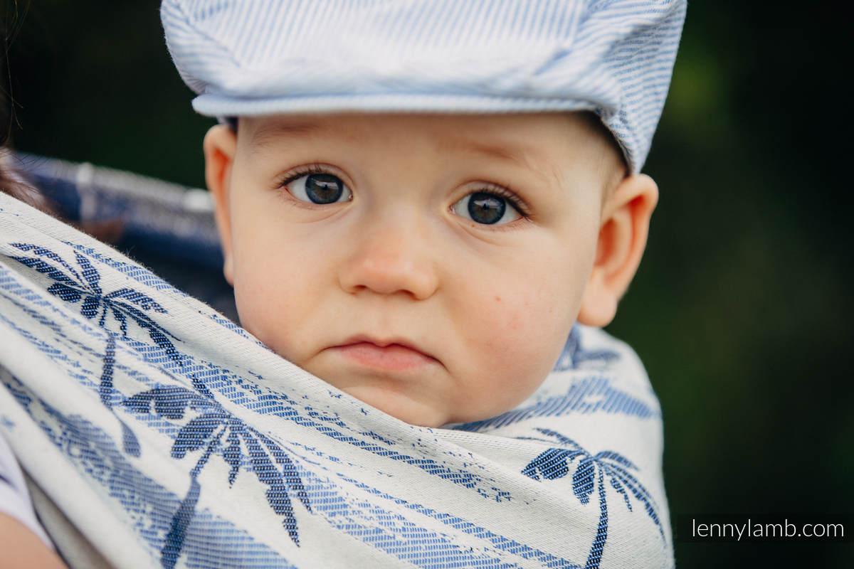 Baby Wrap, Jacquard Weave (100% cotton) - PARADISE ISLAND -  size M #babywearing