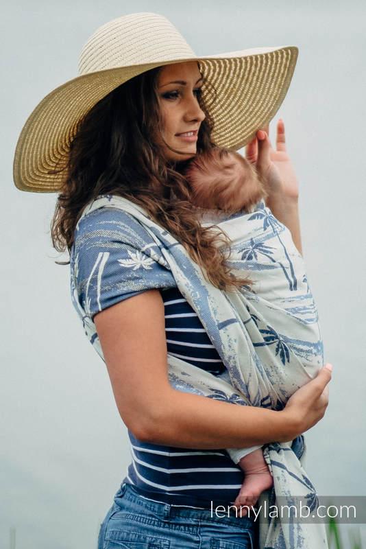 Żakardowa chusta do noszenia dzieci, bawełna - RAJSKA WYSPA - rozmiar L (drugi gatunek) #babywearing