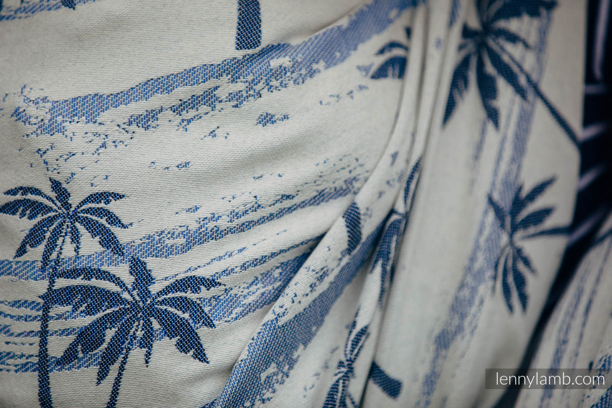 Baby Wrap, Jacquard Weave (100% cotton) - PARADISE ISLAND - size XL #babywearing