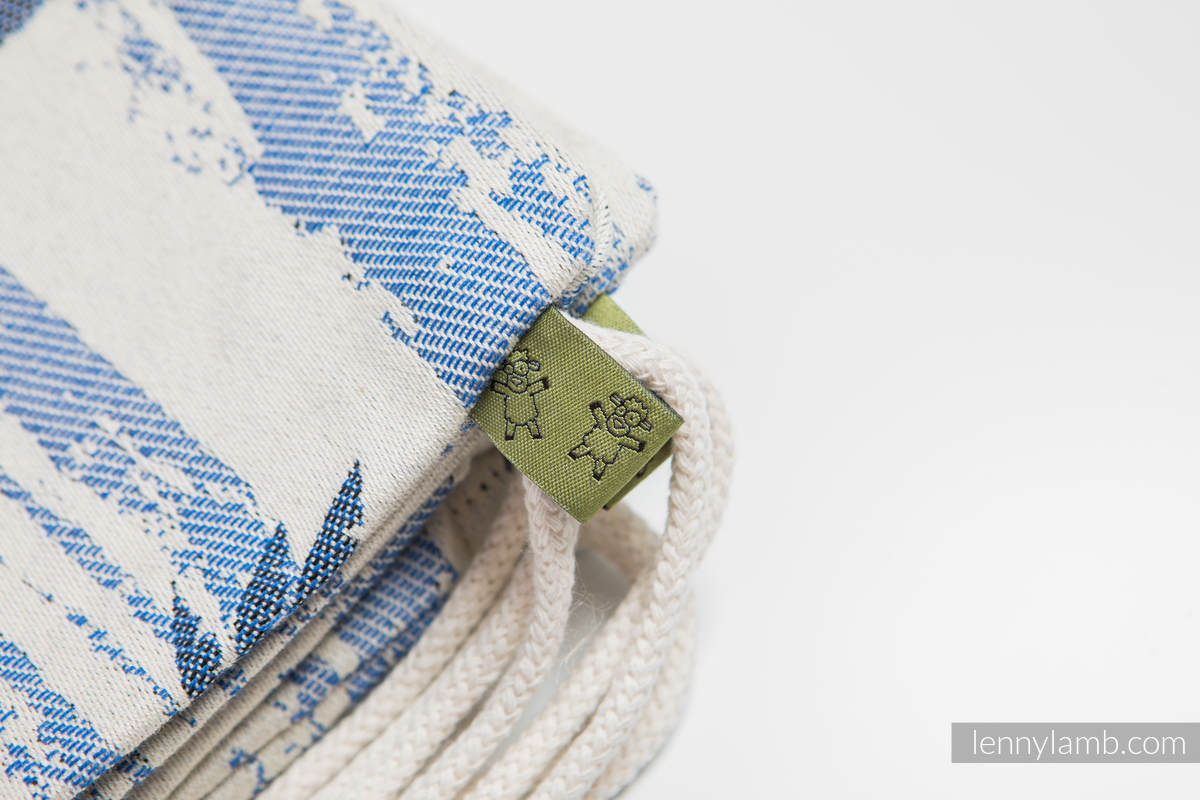 Sackpack made of wrap fabric (100% cotton) - PARADISE ISLAND - standard size 32cmx43cm #babywearing