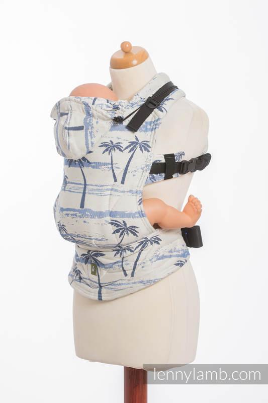 Ergonomic Carrier, Baby Size, jacquard weave 100% cotton - PARADISE ISLAND - Second Generation #babywearing