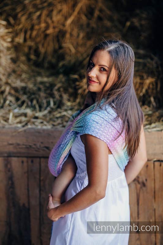 Żakardowa chusta do noszenia dzieci, 80% bawełna, 20% bambus - LITTLE LOVE - ZAPACH LATA - rozmiar XL #babywearing