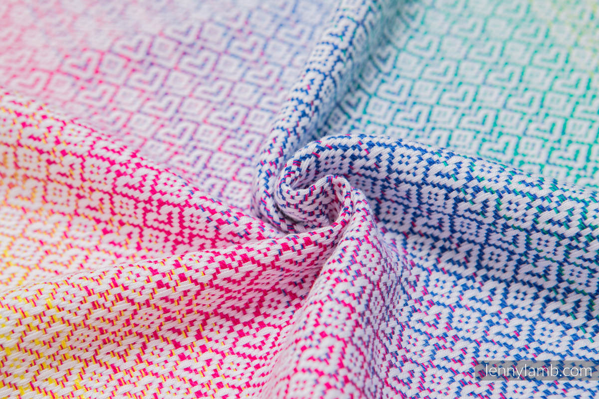 Baby Wrap, Jacquard Weave (80% cotton, 20% bamboo) - LITTLE LOVE - SCENT OF SUMMER - size L (grade B) #babywearing