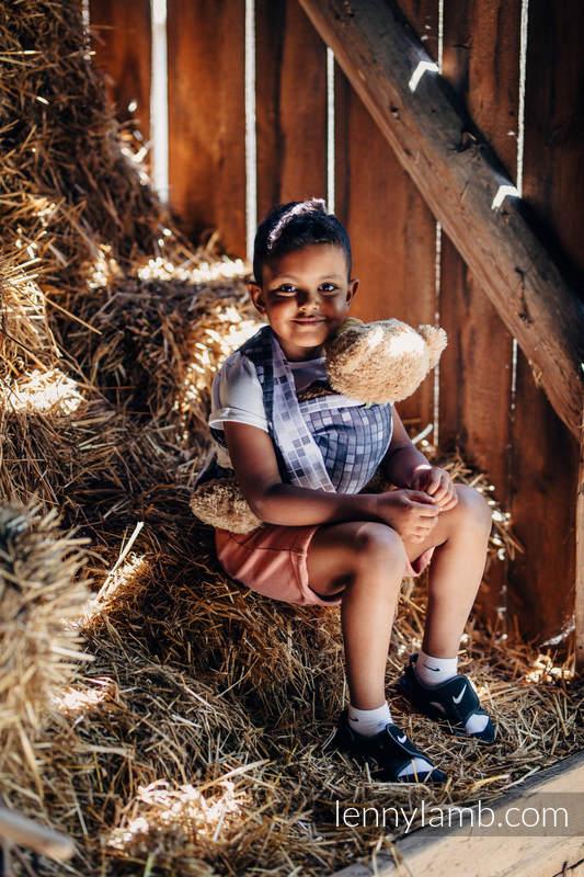 Doll Sling, Jacquard Weave, 100% cotton - MOSAIC - MONOCHROME  #babywearing