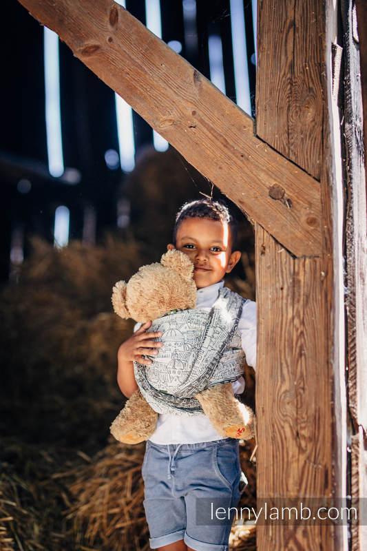 Doll Sling, Jacquard Weave, 100% cotton - PANORAMA   #babywearing