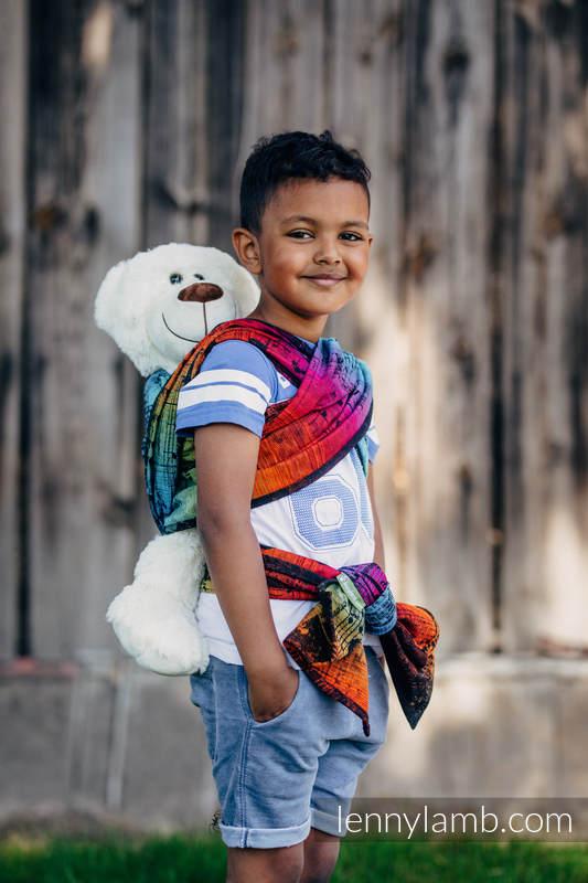 Doll Sling, Jacquard Weave, 100% cotton - SYMPHONY RAINBOW DARK #babywearing