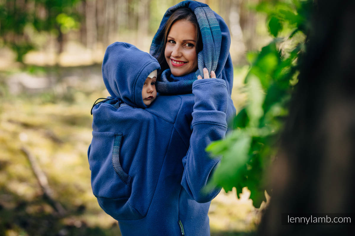 Fleece Babywearing Sweatshirt 2.0 - size 3XL - blue with Little Herringbone Illusion #babywearing