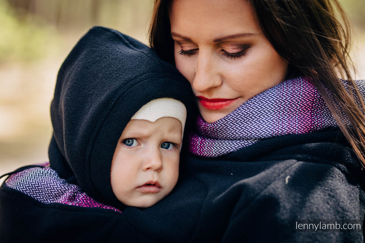Fleece Babywearing Sweatshirt 2.0 - size M - black with Little Herringbone Inspiration #babywearing