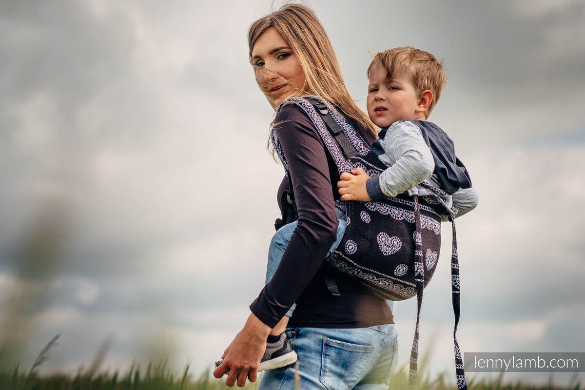 Lenny Buckle Onbuhimo Tragehilfe, Größe Toddler, Jacquardwebung (100% Baumwolle) - GLAMOROUS LACE (grad B) #babywearing