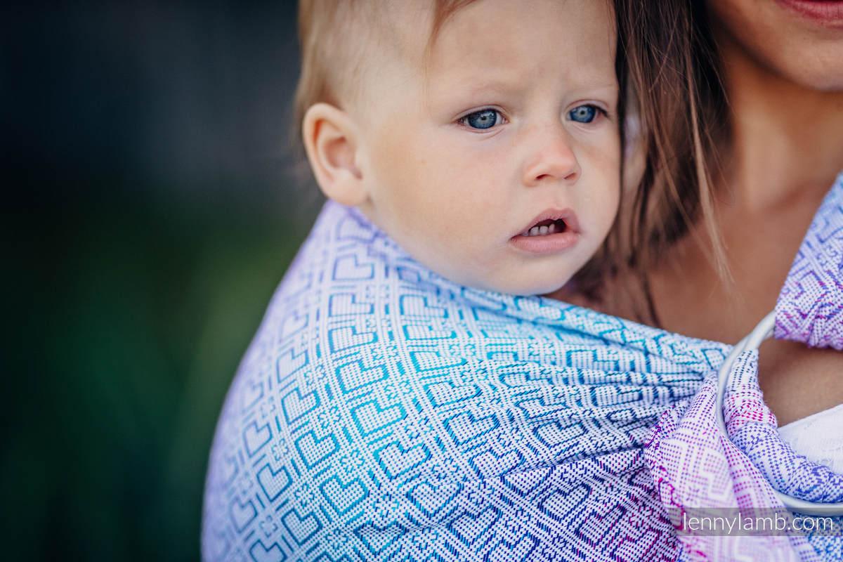 Ringsling, Jacquard Weave (60% cotton, 40% bamboo) - BIG LOVE - WILDFLOWERS - long 2.1m #babywearing