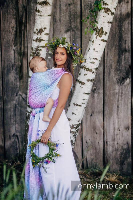 Tragetuch, Jacquardwebung (40% Bambus, 60% Baumwolle) - BIG  LOVE WILDFLOWERS - Größe XL #babywearing