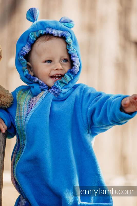 Pajacyk misiowy - rozmiar 74 - turkusowy z Małą Jodełką Petrea #babywearing