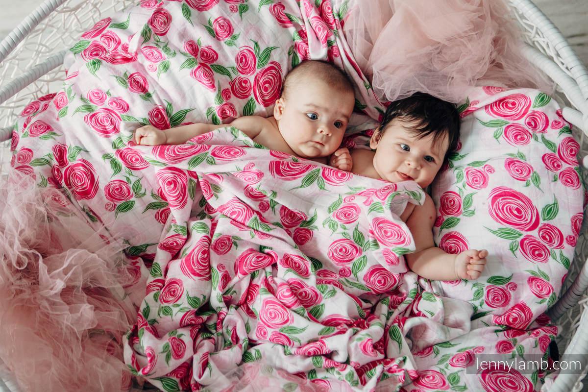 Muslin Square - ROSE BLOSSOM (grade B) #babywearing