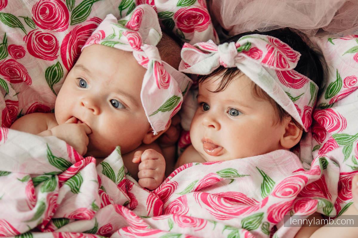 Otulacz Bambusowy - KWIAT RÓŻY #babywearing