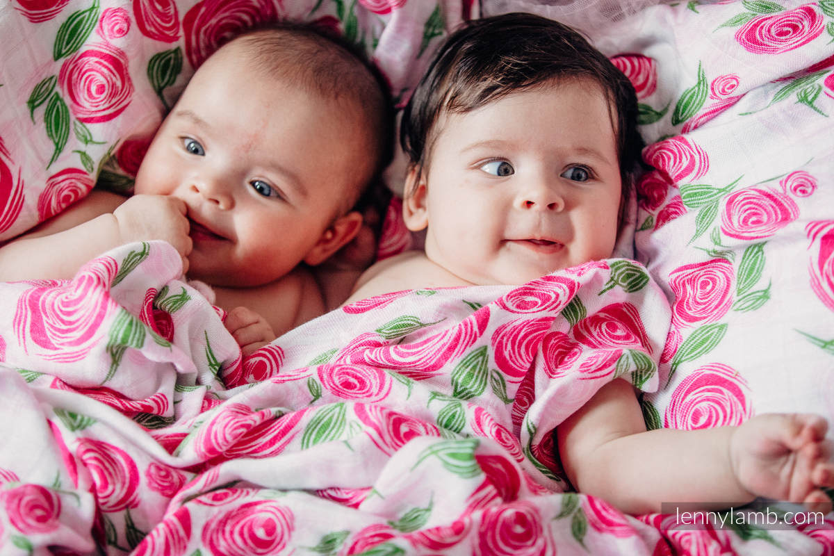 Swaddle Wrap Set - ROSE BLOSSOM, SNOW WHITE #babywearing