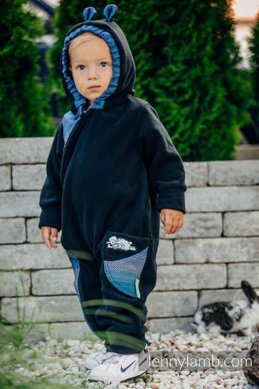 Pajacyk misiowy  - rozmiar 80 - czarny z Małą Jodełką Iluzją #babywearing