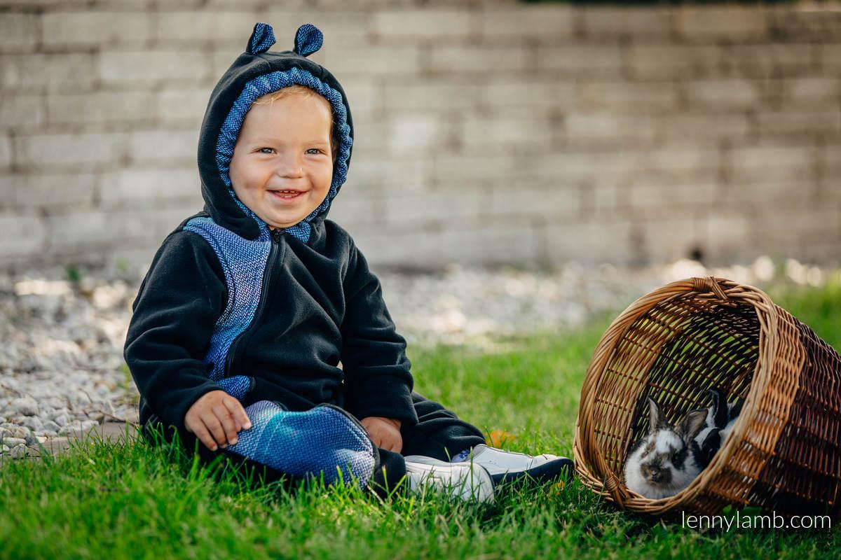 Pajacyk misiowy  - rozmiar 74 - czarny z Małą Jodełką Iluzją #babywearing
