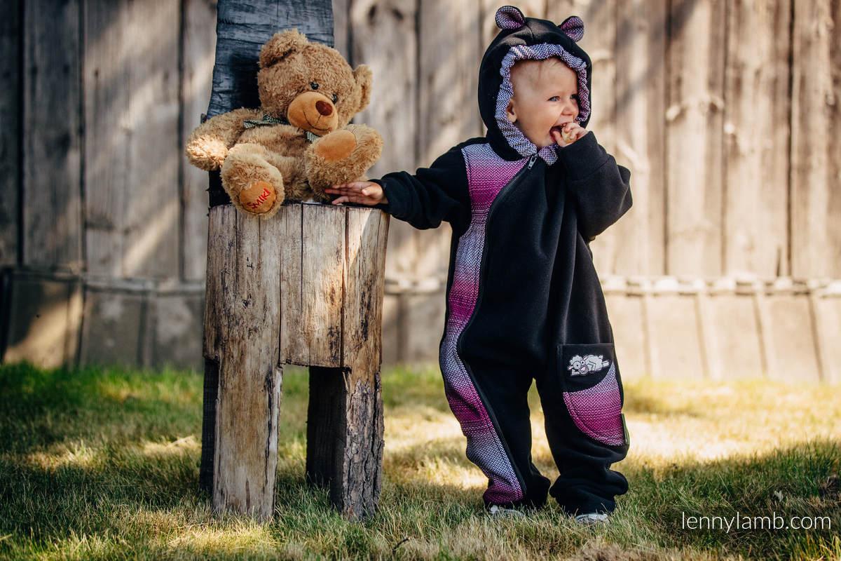Bear Romper - size 74 - black with Little Herringbone Inspiration #babywearing