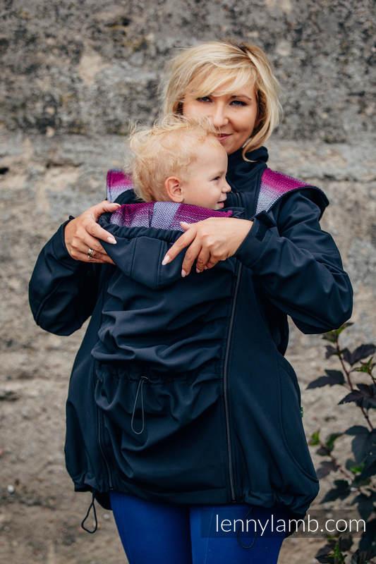 Manteau de portage - Softshell - Noir avec Little Herringbone Inspiration -  taille 6XL (grade B) 5f2acb5a976