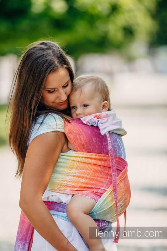 WRAP-TAI carrier Toddler with hood/ jacquard twill / 100% cotton / SYMPHONY RAINBOW LIGHT  #babywearing