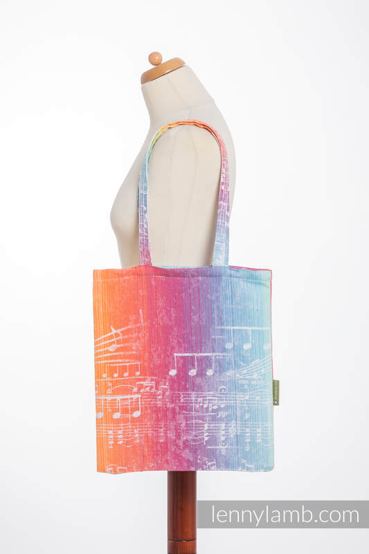 Shopping bag made of wrap fabric (100% cotton) - SYMPHONY RAINBOW LIGHT  #babywearing
