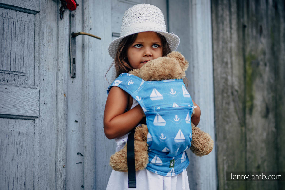 Doll Carrier made of woven fabric, 100% cotton - HOLIDAY CRUISE  #babywearing