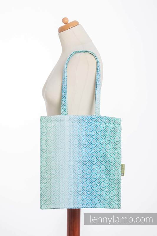 Shopping bag made of wrap fabric (100% cotton) - BIG LOVE - ICE MINT  #babywearing