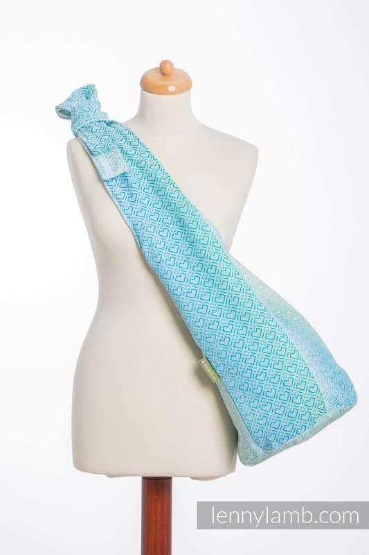 Hobo Bag made of woven fabric, 100% cotton - BIG LOVE - ICE MINT  #babywearing