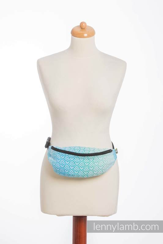 Riñonera hecha de tejido de fular (100% algodón) - BIG LOVE ICE MINT #babywearing