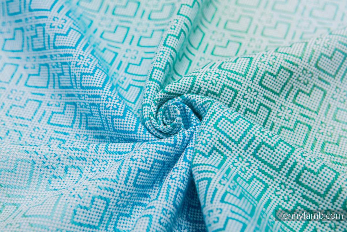 Baby Wrap, Jacquard Weave (100% cotton) - BIG LOVE - ICE MINT - size M #babywearing