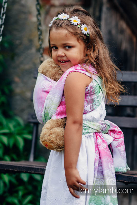 Doll Sling, Jacquard Weave, 100% cotton - ROSE BLOSSOM  #babywearing