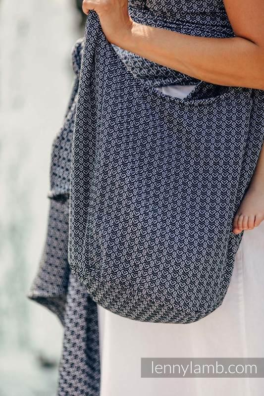 Torba Hobo z materiału chustowego, (100% bawełna) - LITTLE LOVE - HARMONIA #babywearing