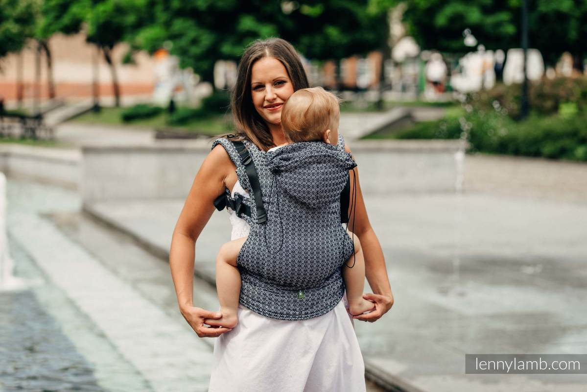 Ergonomic Carrier, Baby Size, jacquard weave 100% cotton - LITTLE LOVE HARMONY, Second Generation (grade B) #babywearing