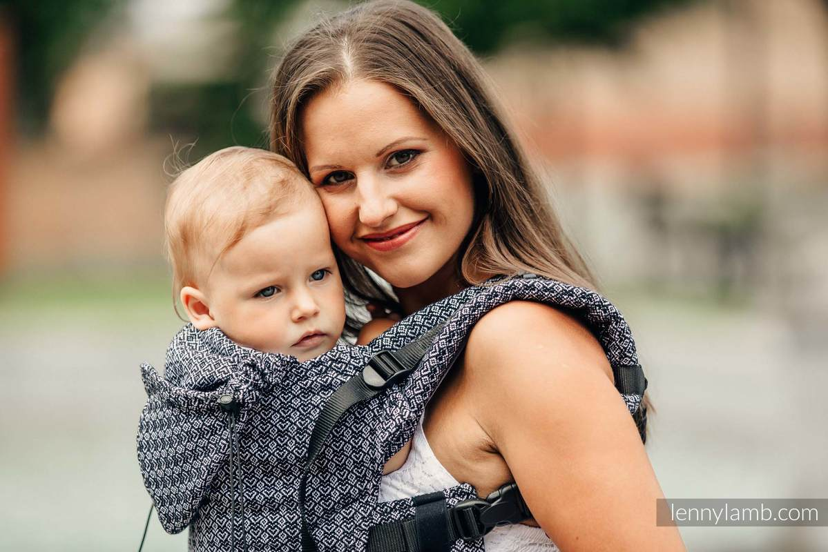 Nosidełko Ergonomiczne z tkaniny żakardowej 100% bawełna , Toddler Size, LITTLE LOVE - HARMONIA, Druga Generacja #babywearing